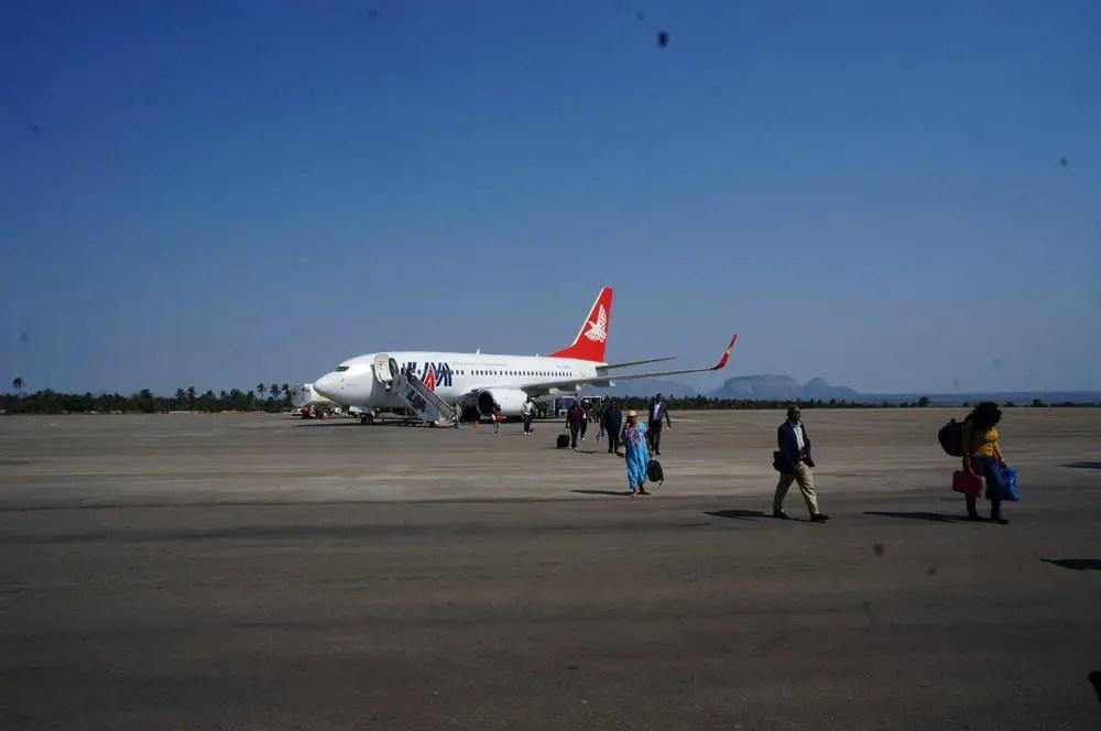 My LAM airplane from Maputo to Nampula.