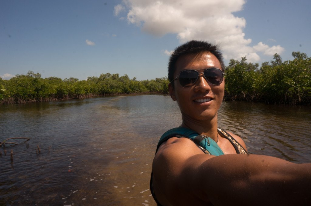 Selfie in the mangroves!