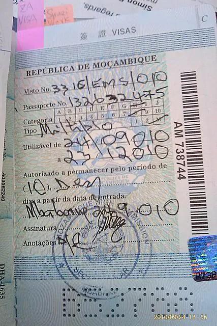Mozambican Visa.