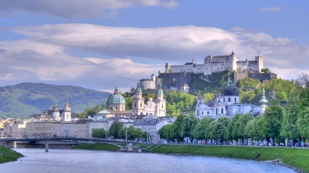 The beautiful countryside in Salzburg, Austria.