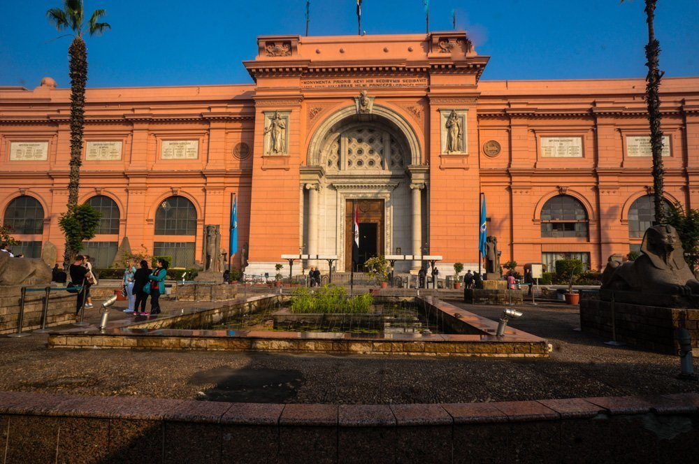 The famous Egyptian museum in Cairo