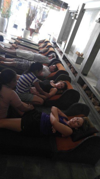Group massage time in Siem Reap!