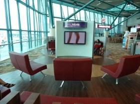 Communal TV watching at Changi