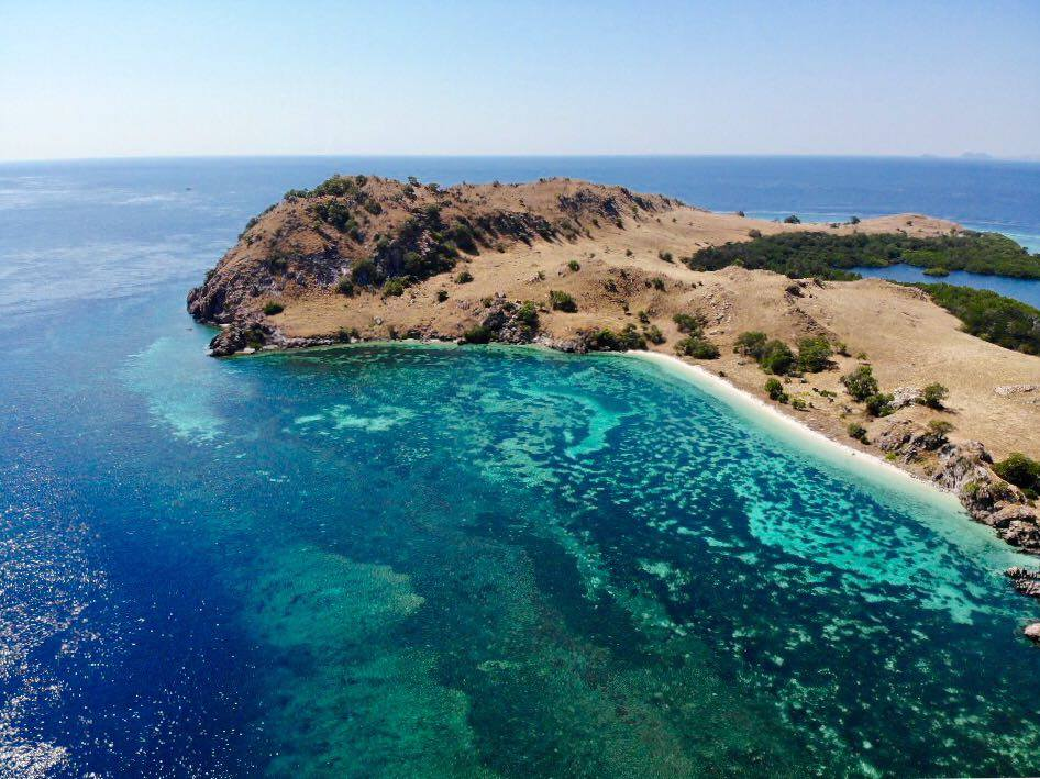 komodo national park aerial drone photo