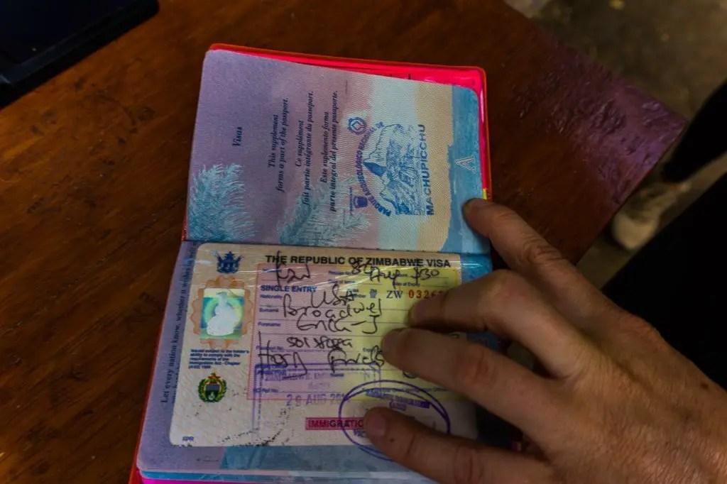 Passport stamp Machu Picchu