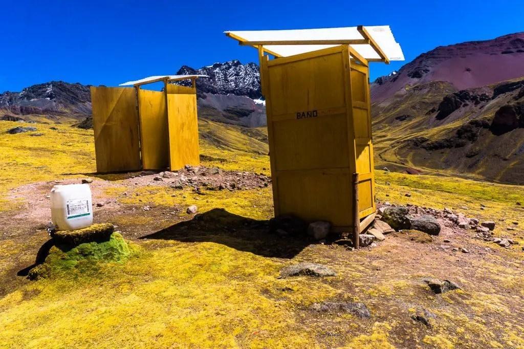 Bathroom rainbow mountain
