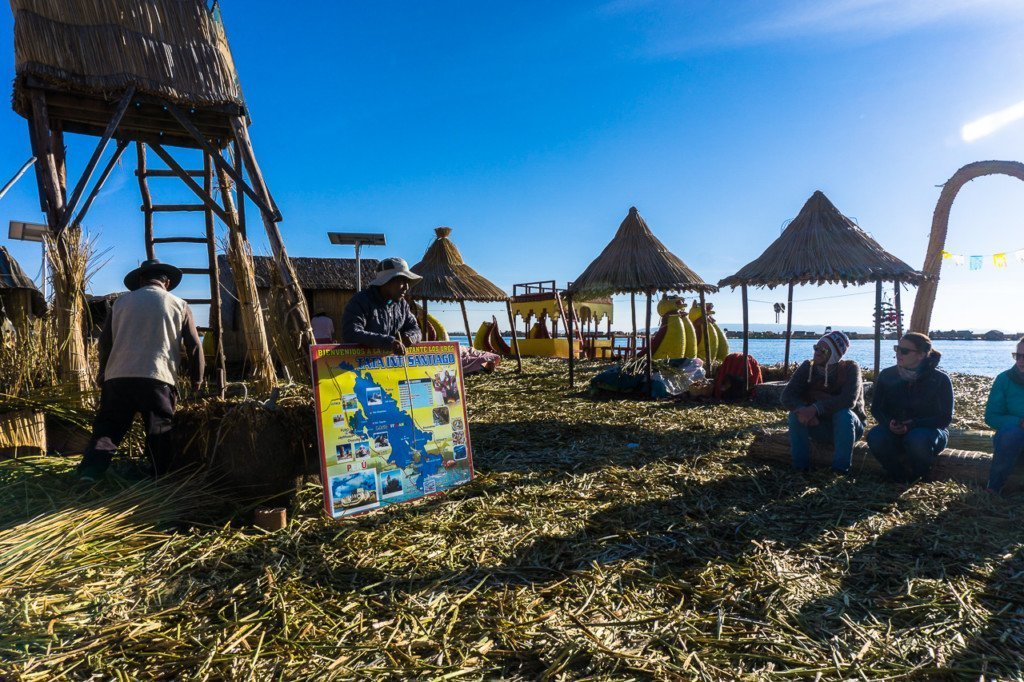 Reed island lake titicaca