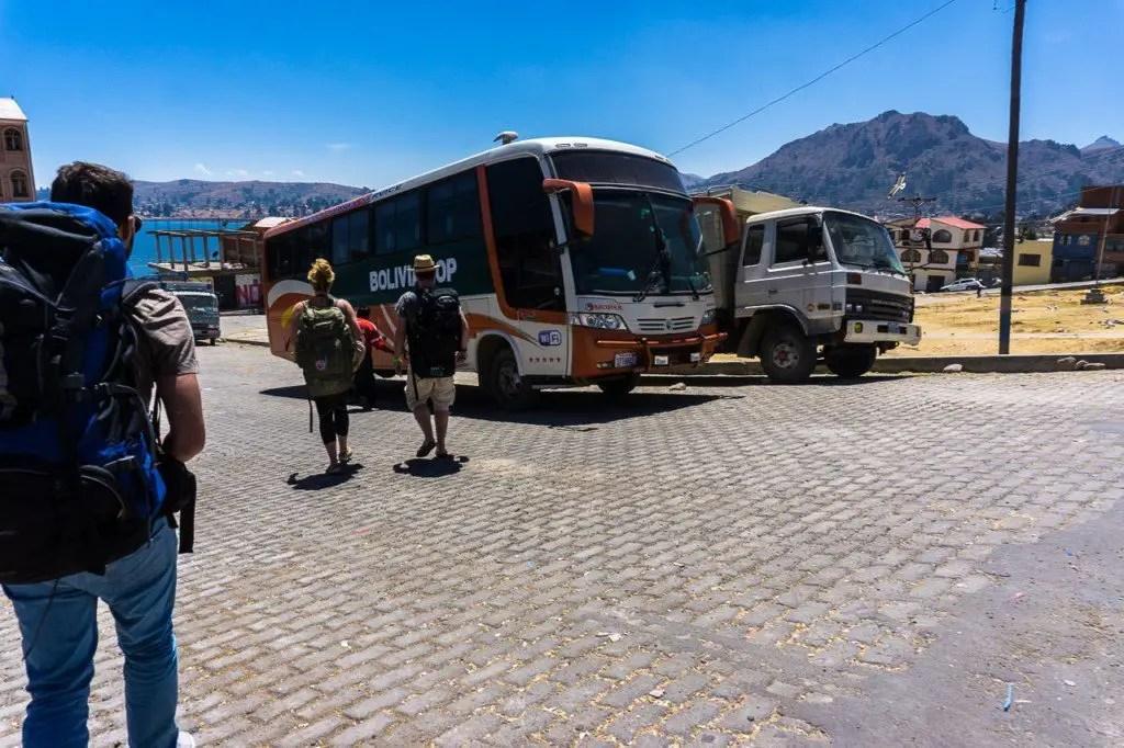 Peru bolivia border Copacabana