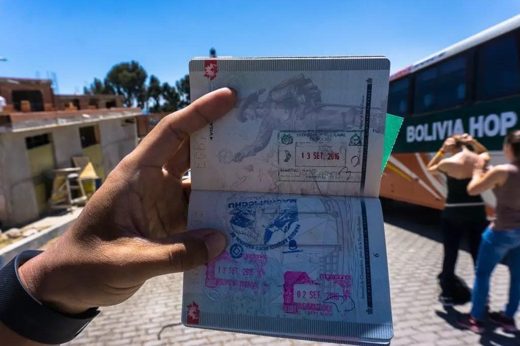 Bolivia passport stamp