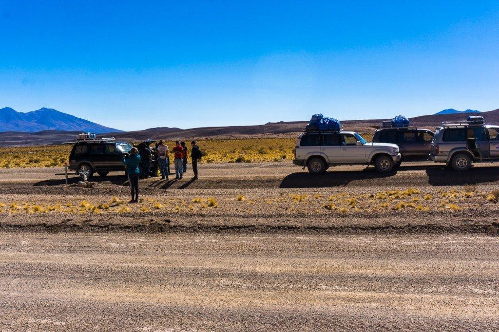 Cars breaking down Uyuni