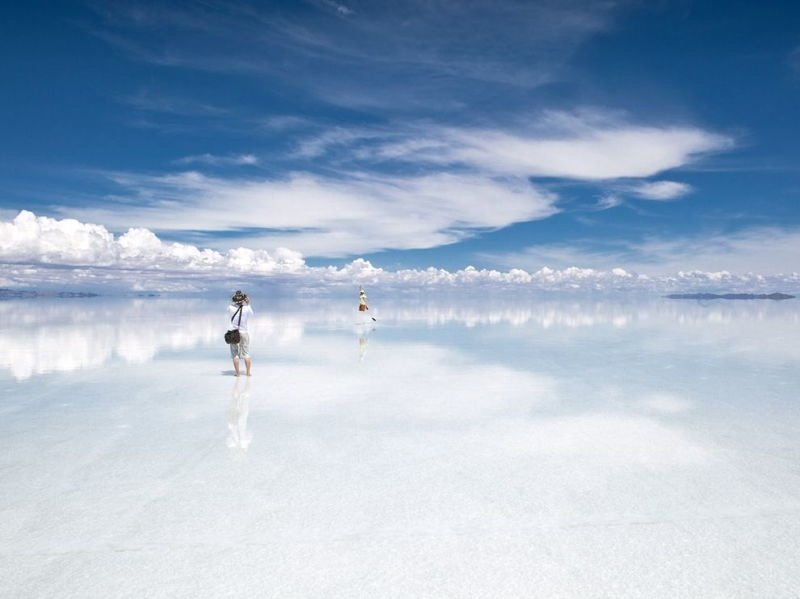 Salt flats wet season