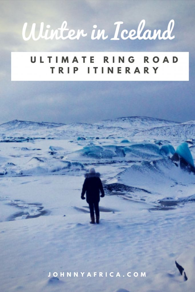 Winter in Iceland is pure magic. From the endless white landscape to viewing the Northern lights, there\'s something for everyone. We drove around the Ring Road in the winter time and here is my in depth itinerary! #iceland #winter #ringroad #roadtrip #itinerary #northernlights #snaefellsness #blacksandbeach #golden circle #blue lagoon