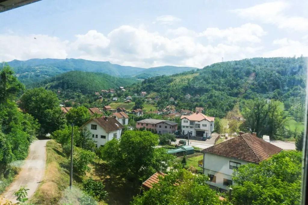 serbian countryside train