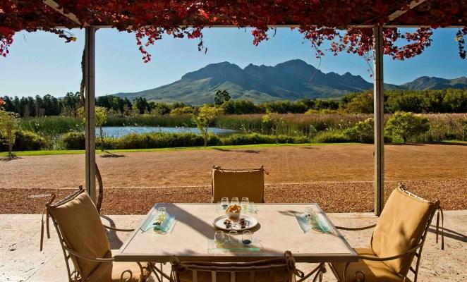 Morgenster wine farm views