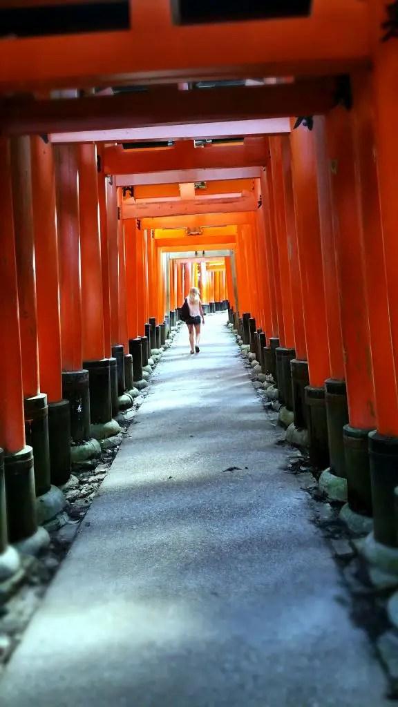 Fushimi Inari morning empty