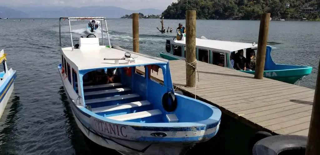 taxi boat lake atitlan