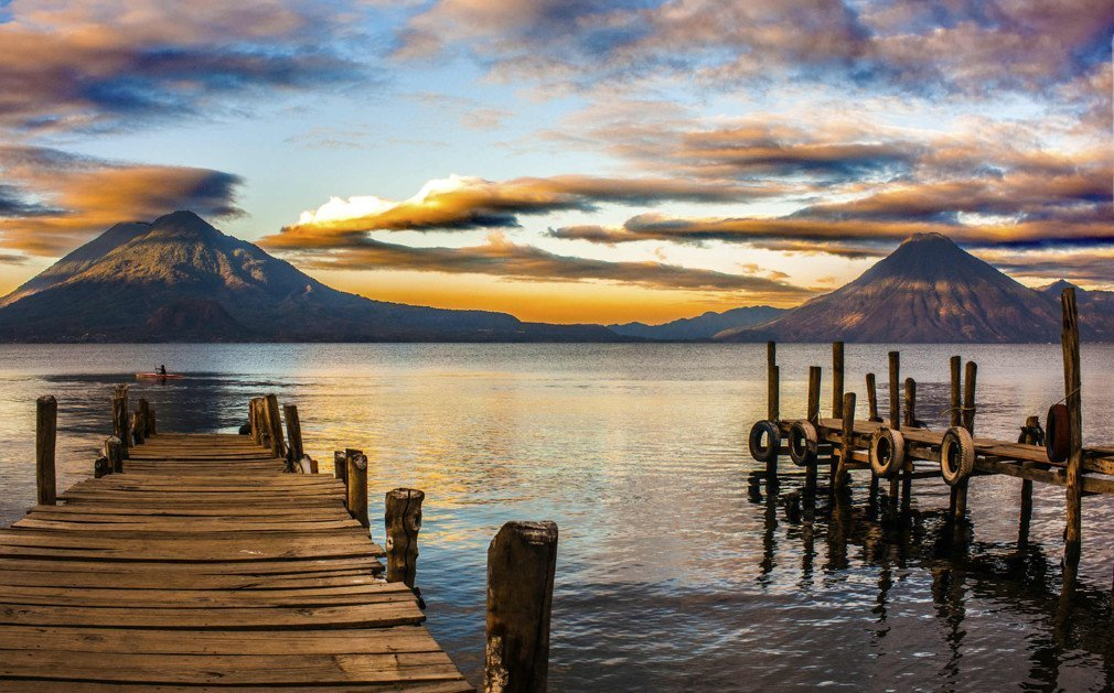 Lake atitlan sunset sunrise