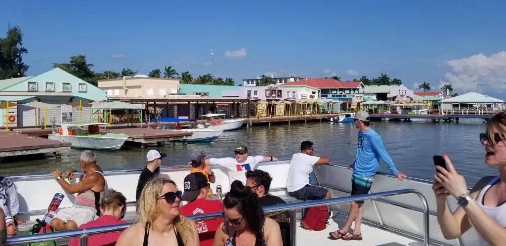 Belize water ferry caye caulker