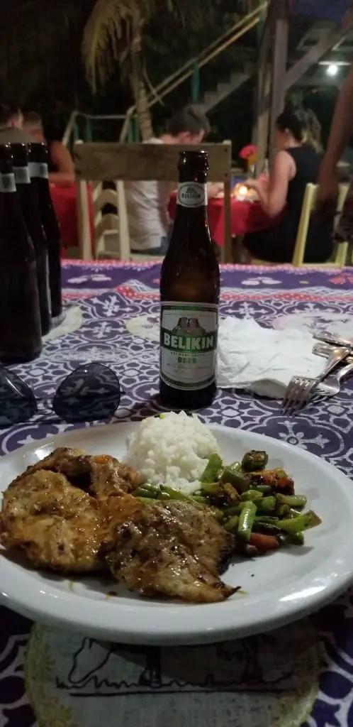 wish willy's Belize Caye caulker dinner