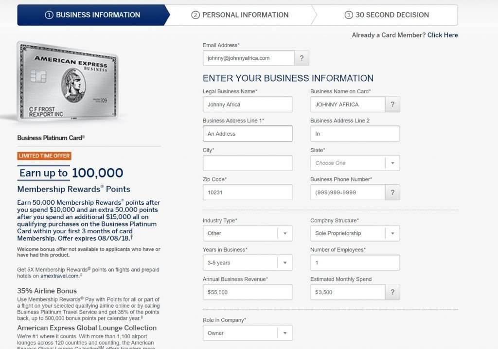 Do you need a business to apply for a business credit card johnny business credit card application reheart Images