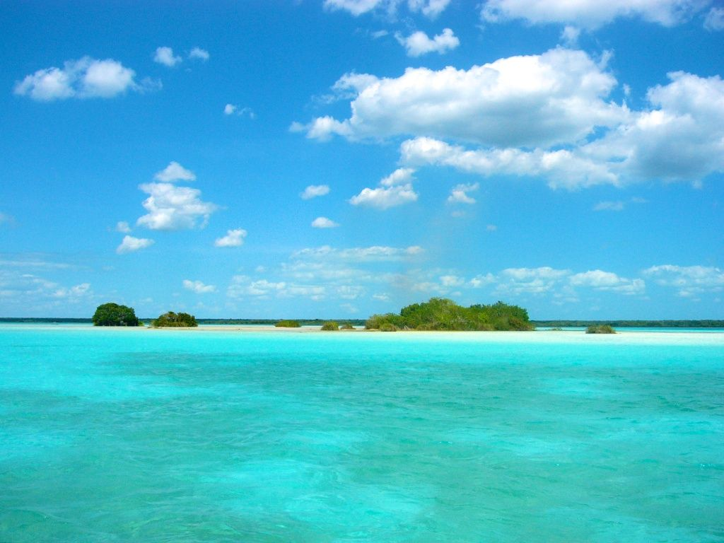 Bacalar water color lagoon