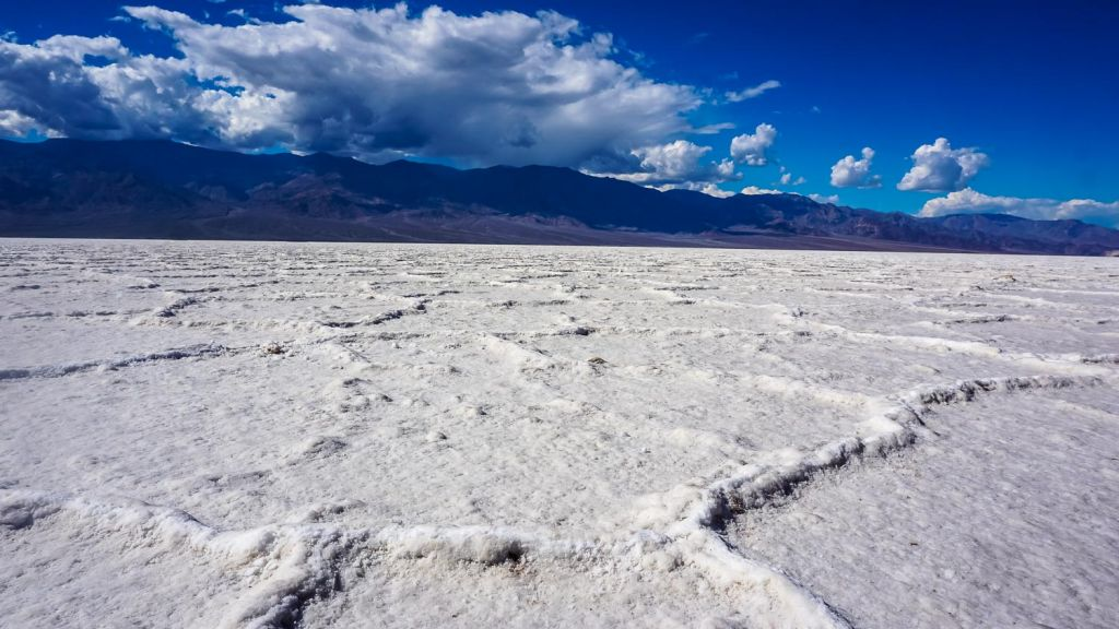 Death valley National Park badwater basin salt flats