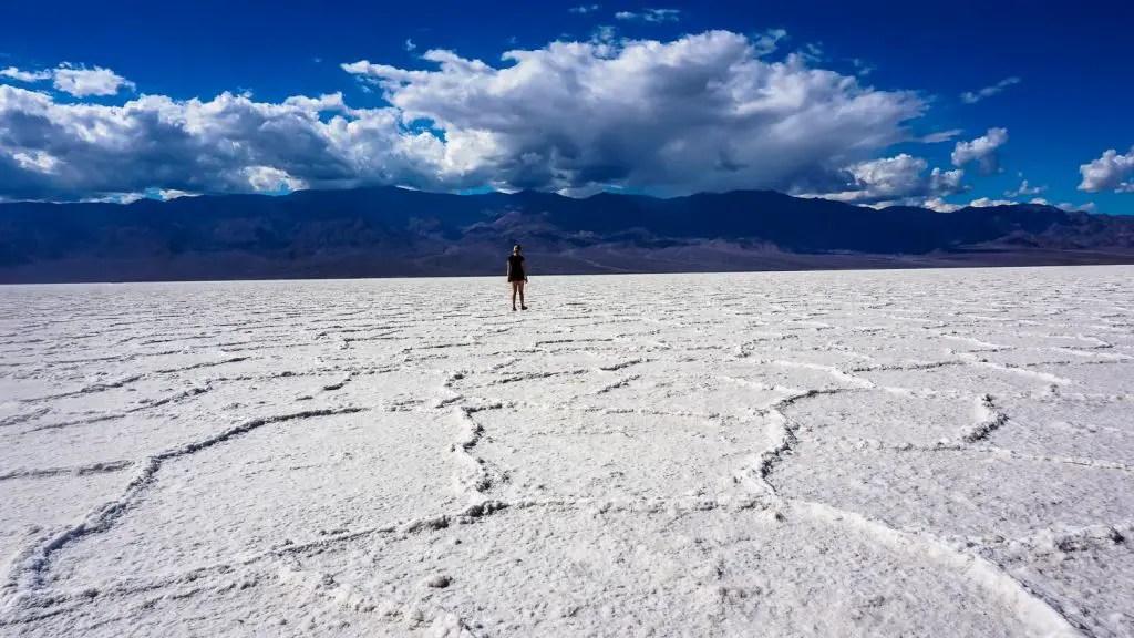 Badwater basin salt flats death valley