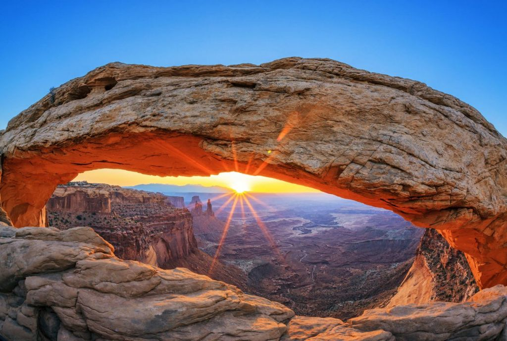Arches national park arch sunset