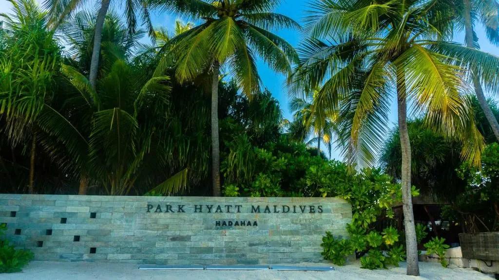 Park hyatt hadahaa welcome