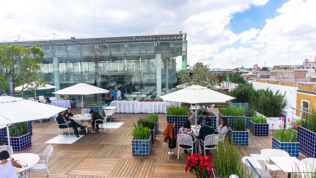Museo Amparo rooftop