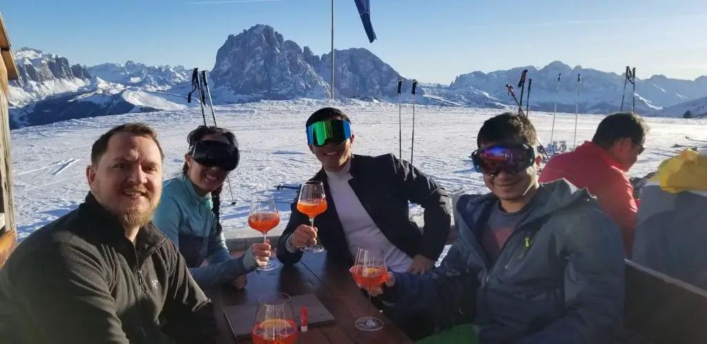 Apres Ski at Sofie on the sunny side of Val Gardena
