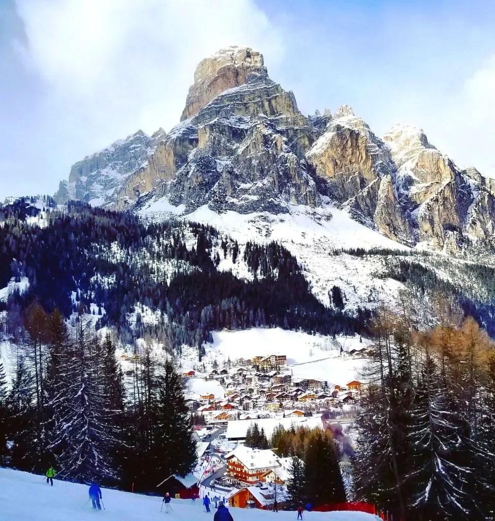 corvara dolomites skiing italy