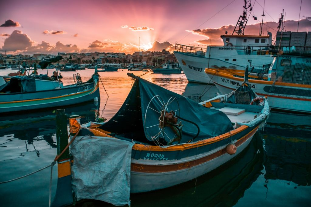 Marsaxlokk at sunset!