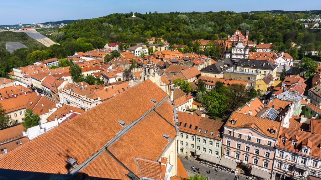 rooftop aerial views Vilnius Lithuania
