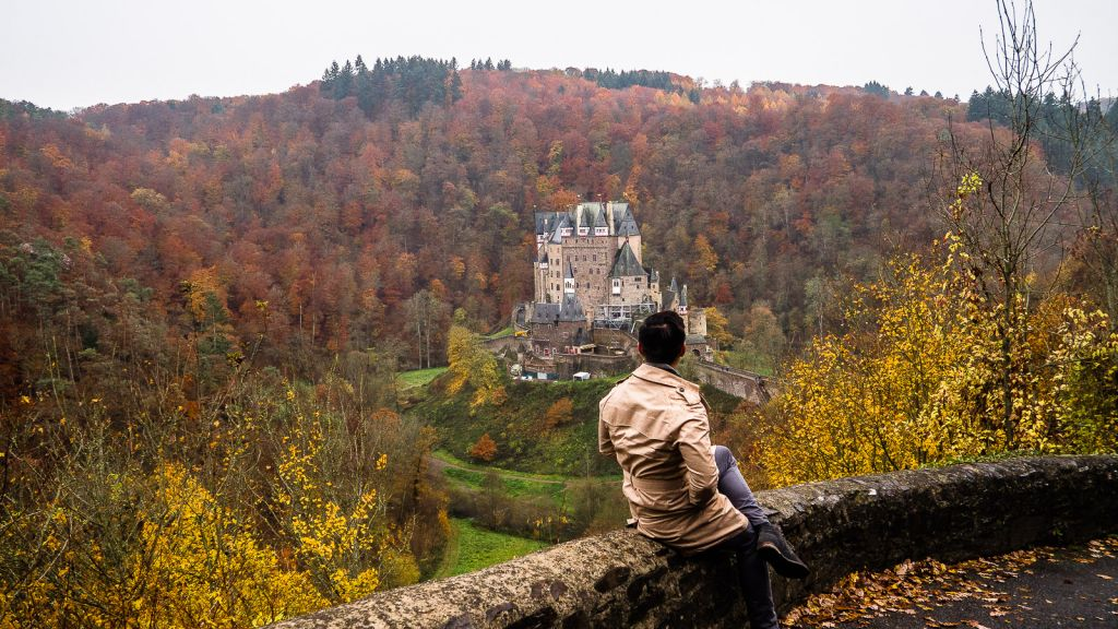 Burg Eltz castle Germany in the fall