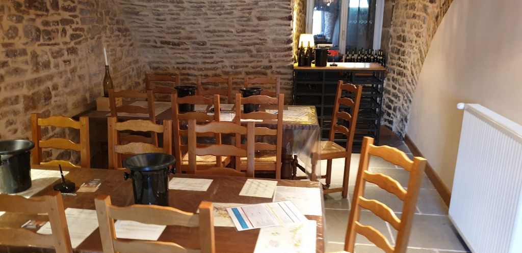 A tasting room that we stumbled upon in Volnay