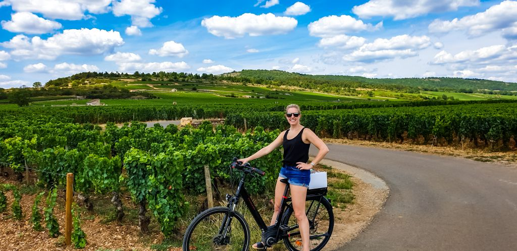 Biking through the vineyards of Burgundy!