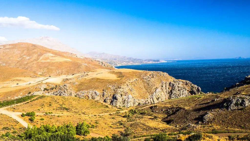Beautiful coastline of Crete