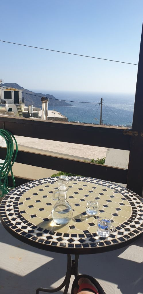 Raki with a view in crete