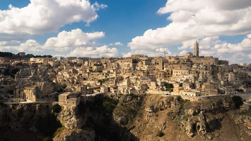Matera Panorama from viewpoint