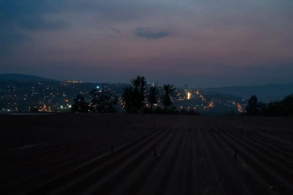 Kigali City sunset