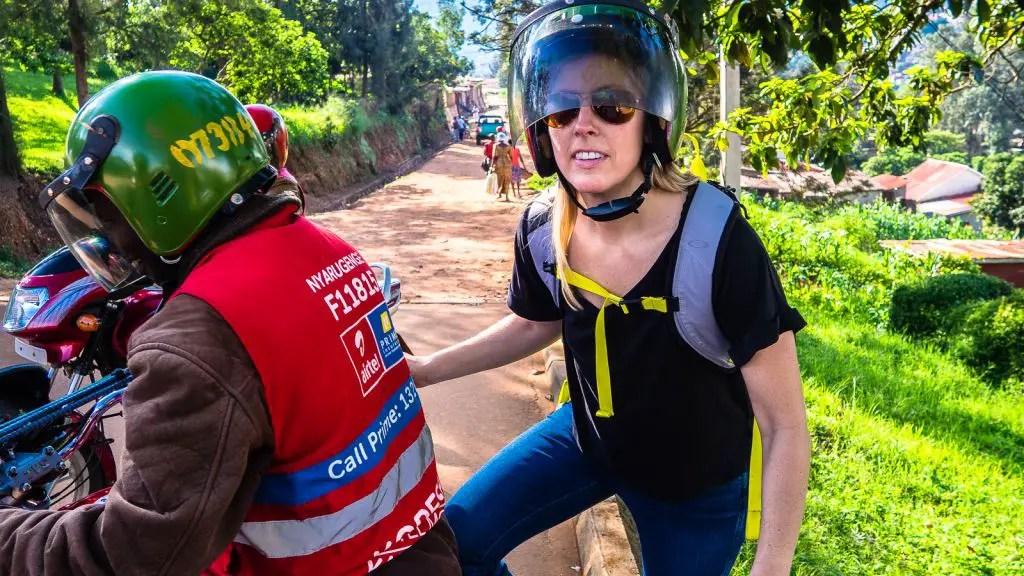Boda boda moto taxi in Kigali Rwanda