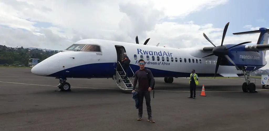Rwandair flight from Cyangugu to Kigali