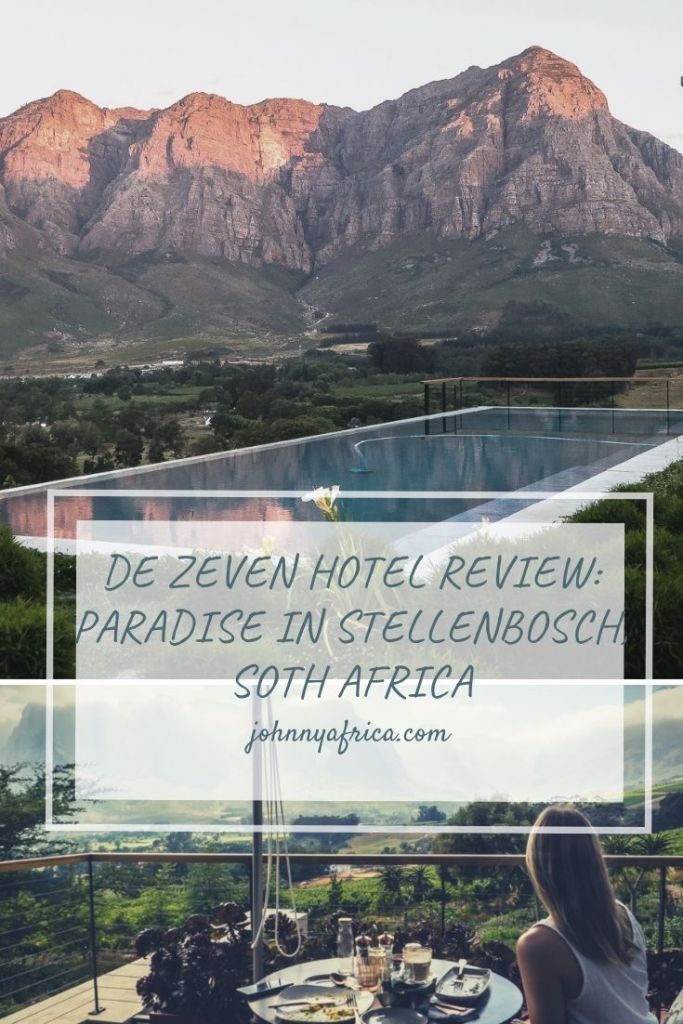 De Zeven wine farm in Stellenbosch is the ultimate hotel for your tour around the wine country. The views are absolutely unmatched and the rooms are some of the most inviting rooms you can find. Highly recommend this slice of paradise in the Cape wine country!
