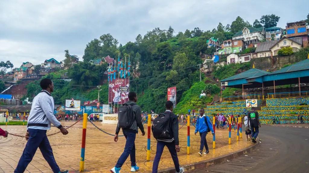 Main square of Bukavu