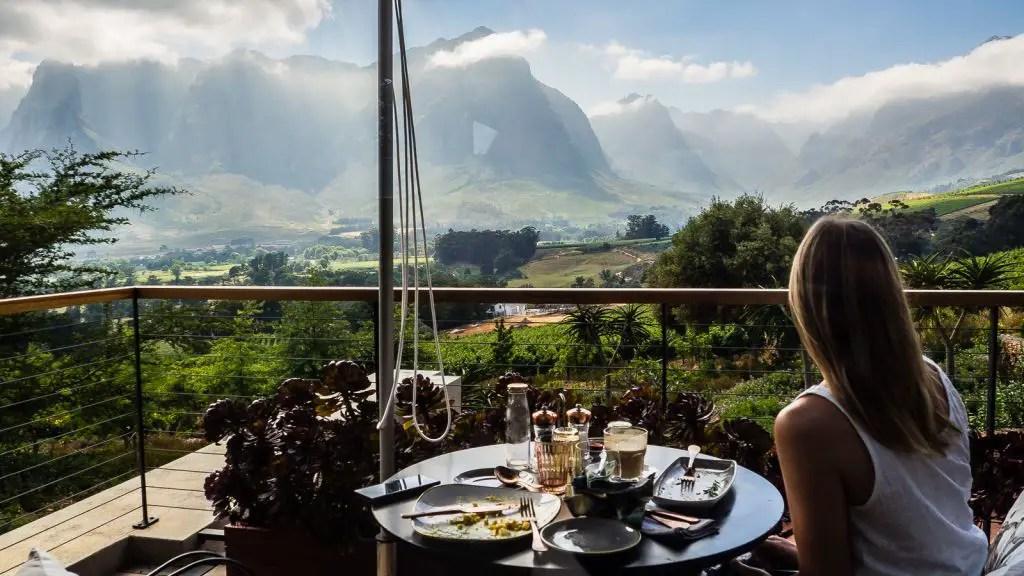 De Zeven view stellenbosch wine farm cape town