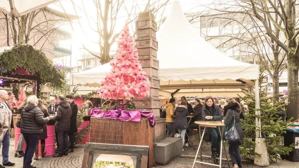 Frankfurt Christmas Market Rosa market