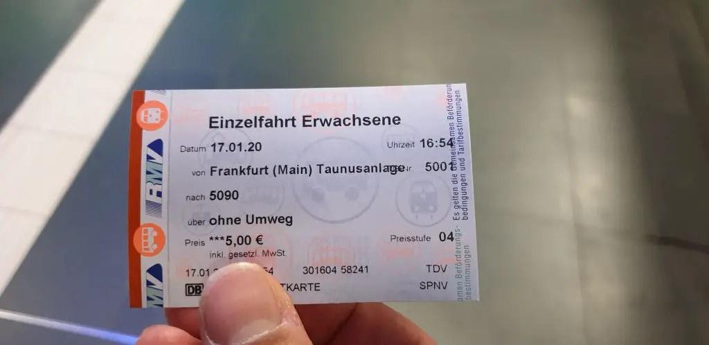 S-Bahn ticket