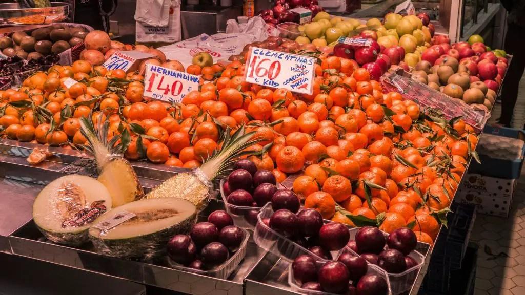 Фрукты рынок Валенсия