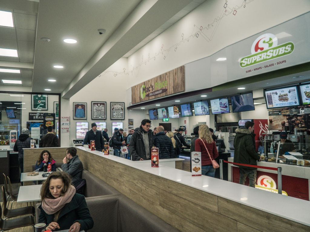 Galway Plaza service station